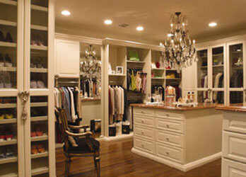 Ladies walk in wardrobe closet