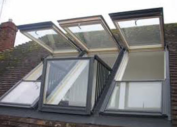 Rooflights viewed from outside